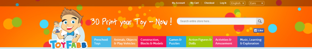ToyFabb 3D printed toys