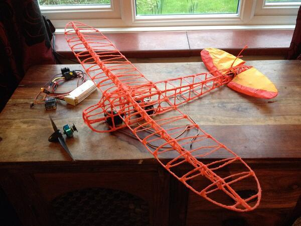 The remote control plane drawn with a 3doodler 3d for Plans for 3d printing