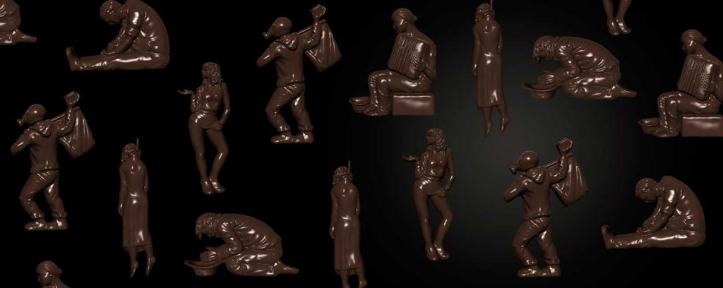 3D printed chocolate art