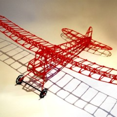 The remote control plane drawn with a 3Doodler