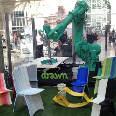 Check out Drawn ultra-customised furniture built with a massive, robotic 3D printing arm