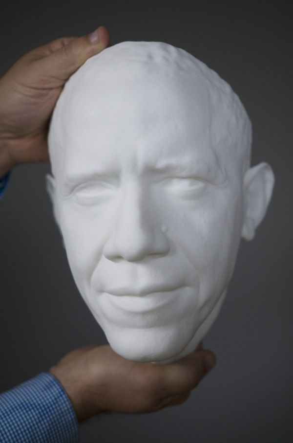 Obama 3D printed bust