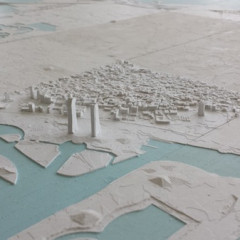 The entire country of Bahrain 3D printed in the Middle East