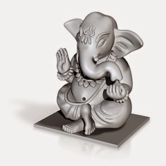 3D printed Lord Ganesha displayed at busy Bangalore Metro Station